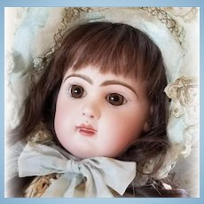 Exquisite Tete Jumeau Bebe French Bisque Doll Closed Mouth Medaille D' Or Original Body