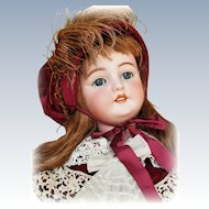 Gorgeous Life Sized Antique Bisque  Simon Halbig Doll