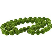 Timeless round nephrite beads Necklace