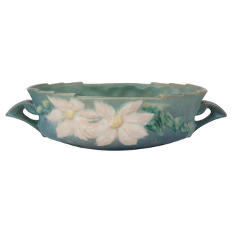 "Roseville – Clematis 10""  Center Bowl– Vase #458 - 10"