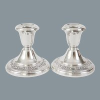 Gorham Sterling Silver Candlesticks Candleholders 662