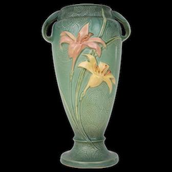"""Roseville – Zephyr Lily 15"""" – Vase  #141 - 15"""
