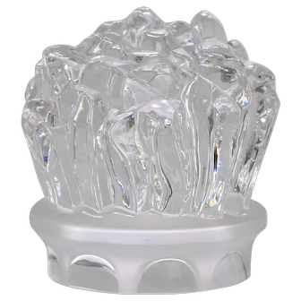 Sevres Cristal Paperweight Ice Crystals/Rock Crystals