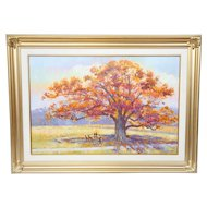 Jean Franz Miller Original Signed Oil on Canvas Bucks County PA Artist