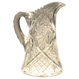Outstanding American Brilliant Cut Glass Water Pitcher/Jug