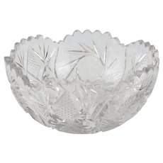 American Brilliant Cut Glass Bowl Centerpiece