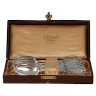 Art Nouveau Spoons, Set of Six Karl Kaltenbech & Sohne 800 Silver