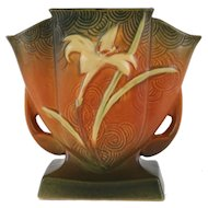 "Roseville – Zephyr Lily 7"" – Fan Vase - 206-7 Roseville Decorative Vase"