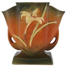 """Roseville – Zephyr Lily 7"""" – Fan Vase - 206-7 Roseville Decorative Vase"""