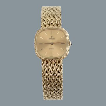 Concord Ladies 14k Gold Wrist Watch Woman's Watch