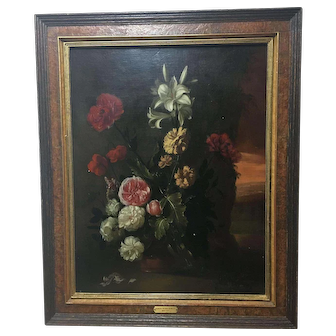 Truly stunning painting of flowers Follower of Simon Verelst 1644-1721