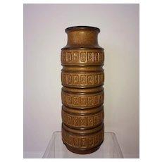 A vintage Scheurich Mid century brown vase