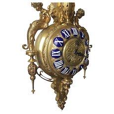 19th Century French Louis XVI Style Ormolu Cartel Clock