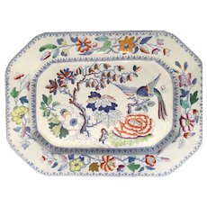 This is a mid 19th Century Mason's ironstone China meat platter