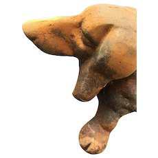 19th Century Cast Iron Sausage Dog Dachshund Boot Scraper