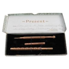 19th Century Propelling Pencil and J Pen