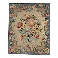 19th Century Needlework of Flowers
