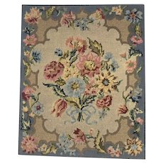 19th Century Needlework of Flowers