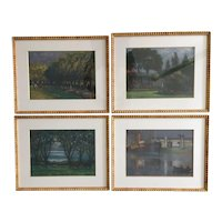 Set of Four British 19th Century Paintings by Frederick William George