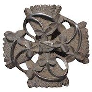 19th Century Irish carved bog oak brooch