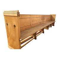19th Century Church Pew Large Seat Chair Stunning