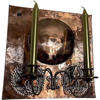 19th Century English Copper Wall Sconce