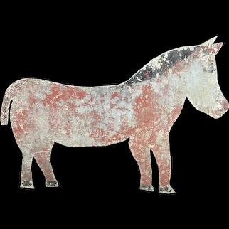 19th Century Metal Horse Sign