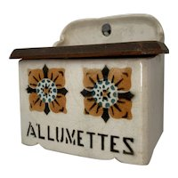 Vintage French Allumettes Match Holder