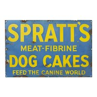 Vintage Feed the Canine World Enamel Advertising Sign