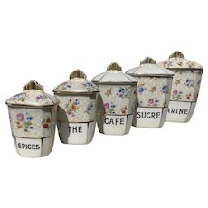 French Art Deco Kitchen Canisters