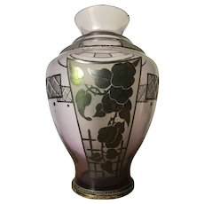 Art Deco amethyst glass vase circa 1930s
