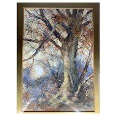 Victorian Watercolour Autumn Tree