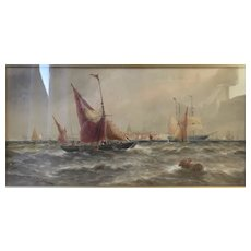 1884 Watercolour of Shipping at Gravesend