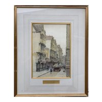 Antique Watercolour Painting Bristol 1912