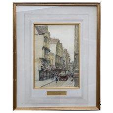 Antique Watercolour Painting Bristol 1912