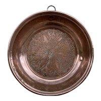 French Antique Copper Colander