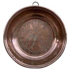 French Antique Copper Colander