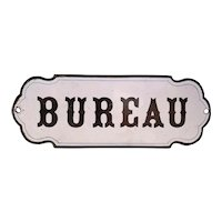 19th Century French Bureau Sign