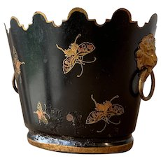 Antique Toleware Butterfly Planter