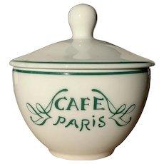 Vintage Cafe Paris Sugar Bowl
