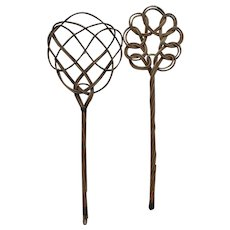Antique French Rattan Carpet Beater