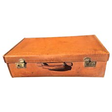 Leather Suitcase Harrods Vintage