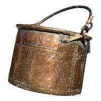 18th Century French Copper Cauldron