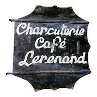 19th Century French Cafe Sign