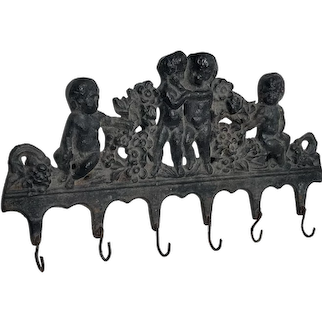 Victorian Cast Iron Cherub Hooks