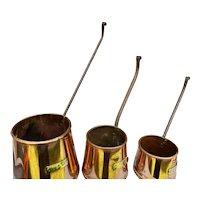 Antique Copper Cider Measures