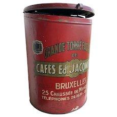 1920s Belgian Coffee Sales Tin