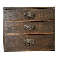 Late 19th Century Stained Pine Collectors Chest