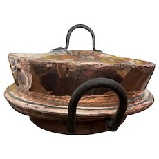 Antique French Copper Dish
