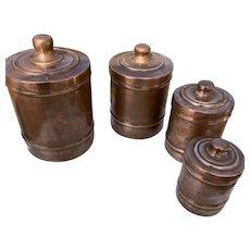French Antique Copper Kitchen Jars